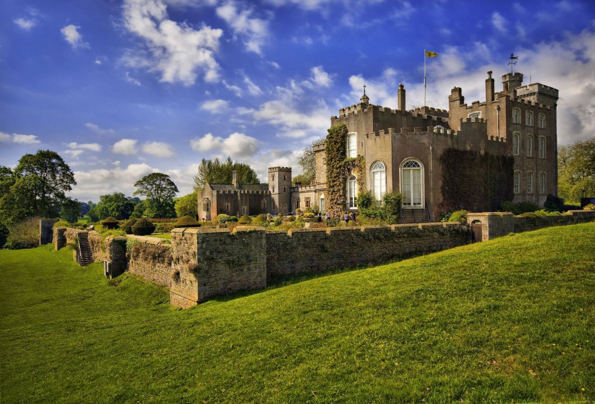 Powderham Castle from the North lawn