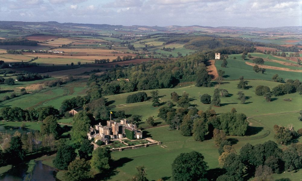 Powderham Castle from the Air